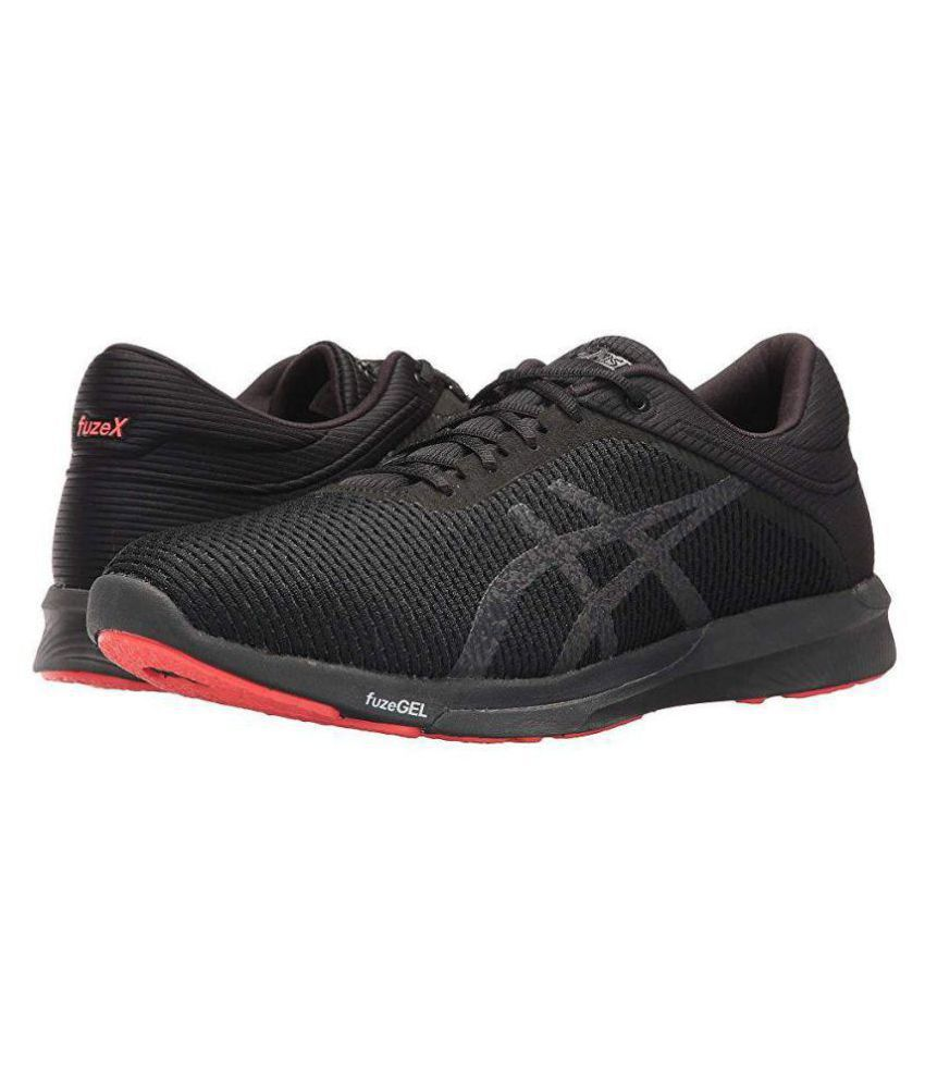9fd4be5360f1 Asics FUZEX RUSH Black Running Shoes - Buy Asics FUZEX RUSH Black Running  Shoes Online at Best Prices in India on Snapdeal
