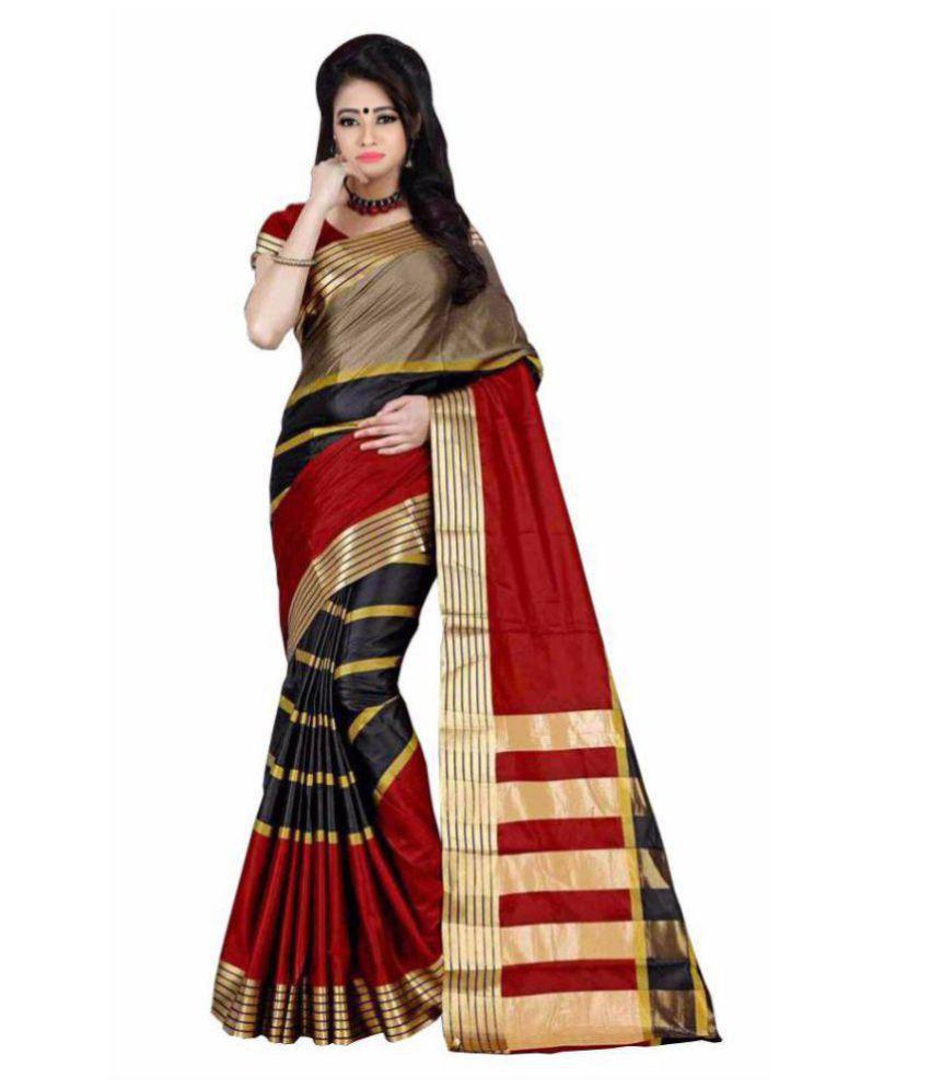 348669e563ccb6 Mahadev Enterprises Multicoloured Cotton Silk Saree - Buy Mahadev  Enterprises Multicoloured Cotton Silk Saree Online at Low Price -  Snapdeal.com