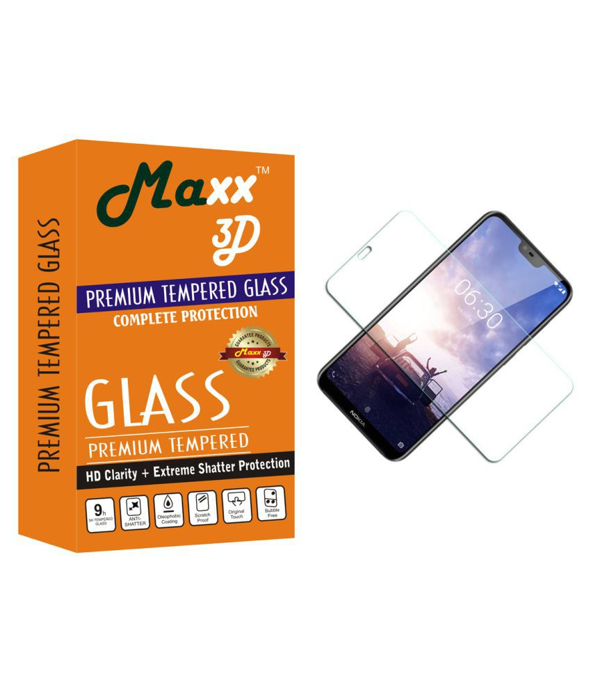 Nokia 6.1 Plus Tempered Glass Screen Guard By MAXX3D