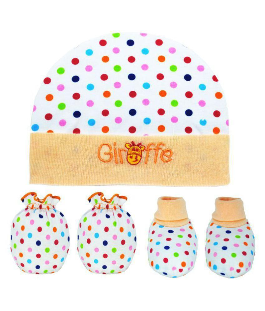 5b4469889 Tahiro Beige Cotton Printed Baby Mitten