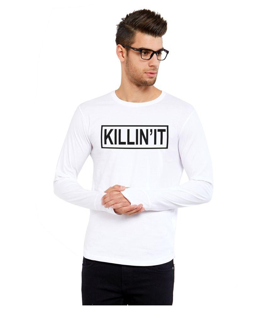 Maniac White Full Sleeve T-Shirt