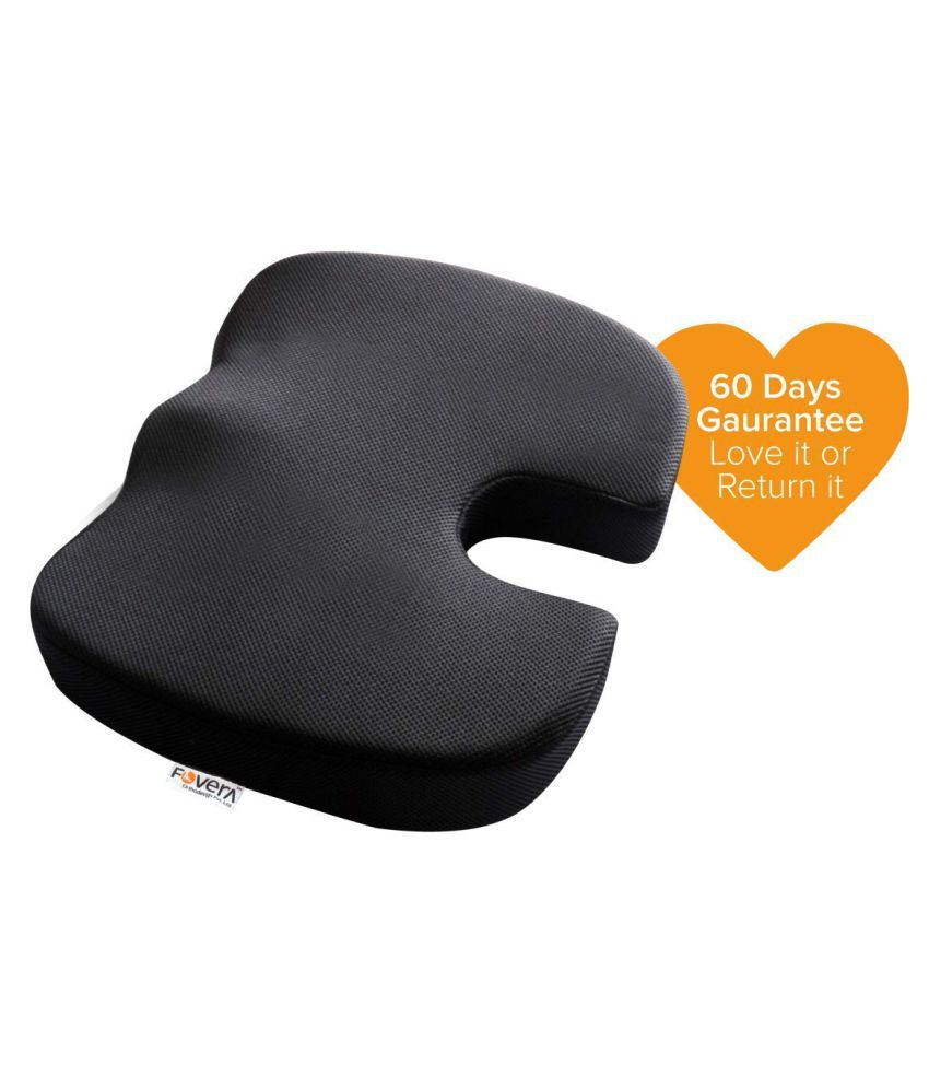 Fovera Orthopedic Coccyx Seat Cushion Below 80kg Wt Black M