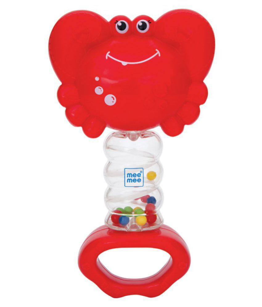 Mee Mee Cheerful Rattle Toy (Red, Pack of 2)