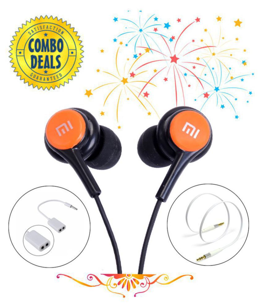 Audoi S82 For Xiaomi Redmi Y2 In Ear Wired Earphones With Mic