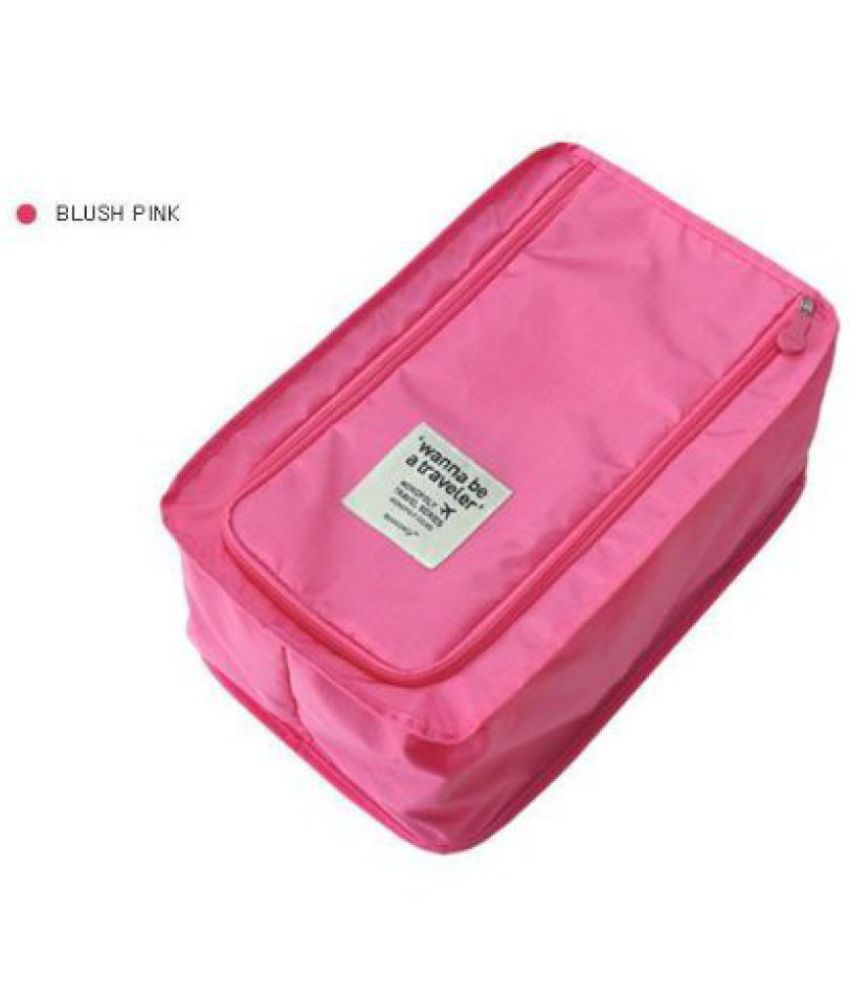 Everbuy Pink Living Travel Shoe Pouch For Your Priceless Shoes