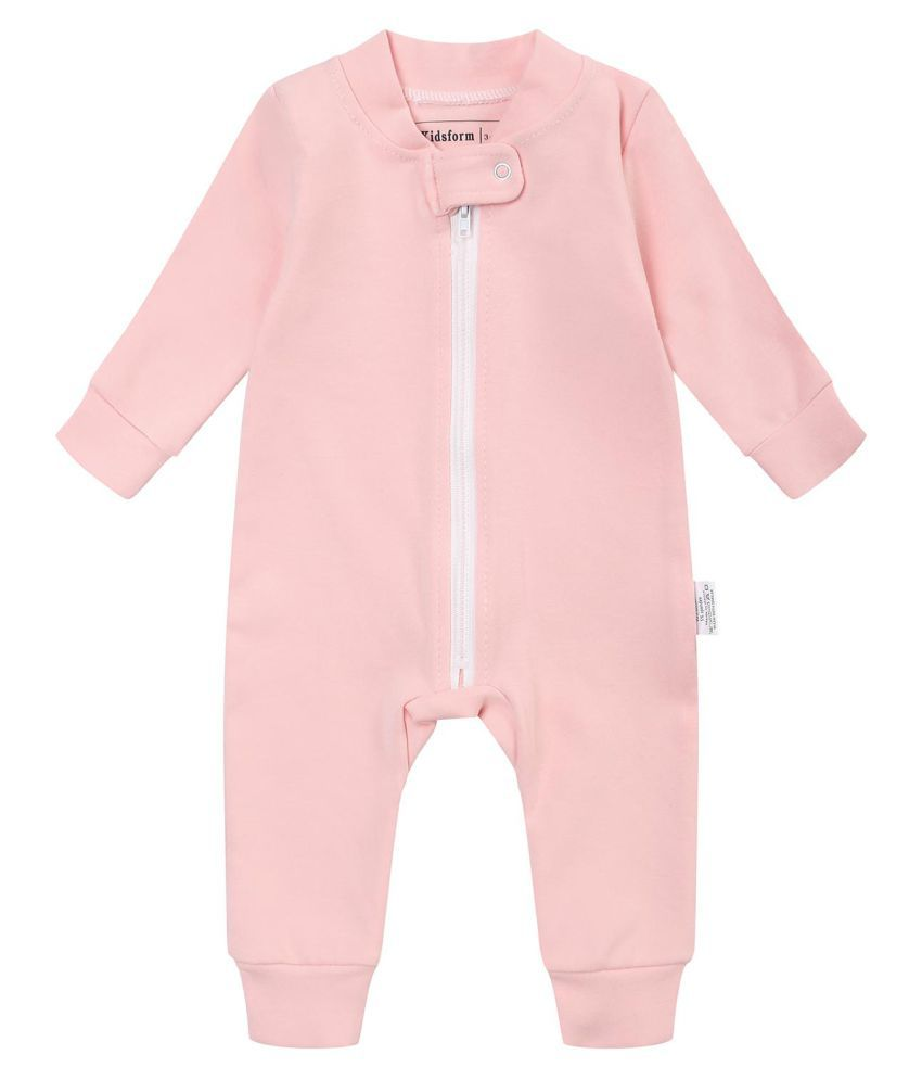0f56e0aa9778 Kidsform Infant Baby Girl Boy Organic Cotton Zip Up Footless Romper ...