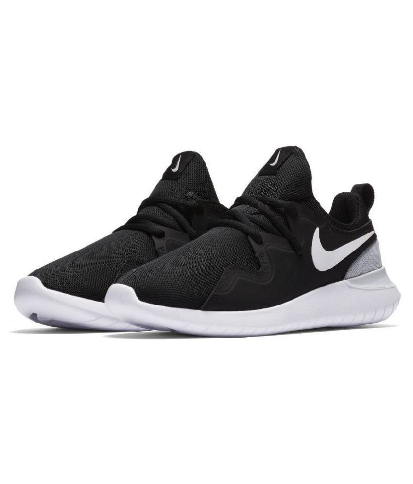 d47b7bb6e Nike TESSEN Black Running Shoes - Buy Nike TESSEN Black Running Shoes  Online at Best Prices in India on Snapdeal