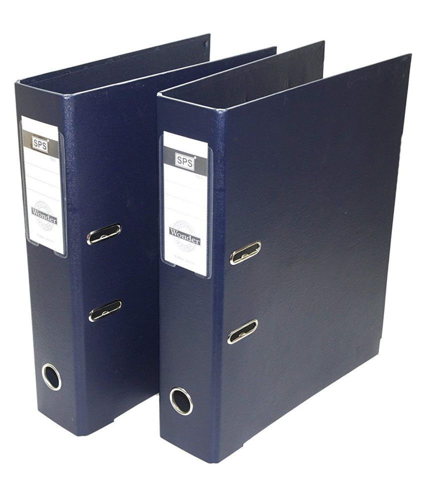2 Pack Box File, Polymer Elite Executive/Corporate Series FC Lever Arch File Binder - Dark Blue