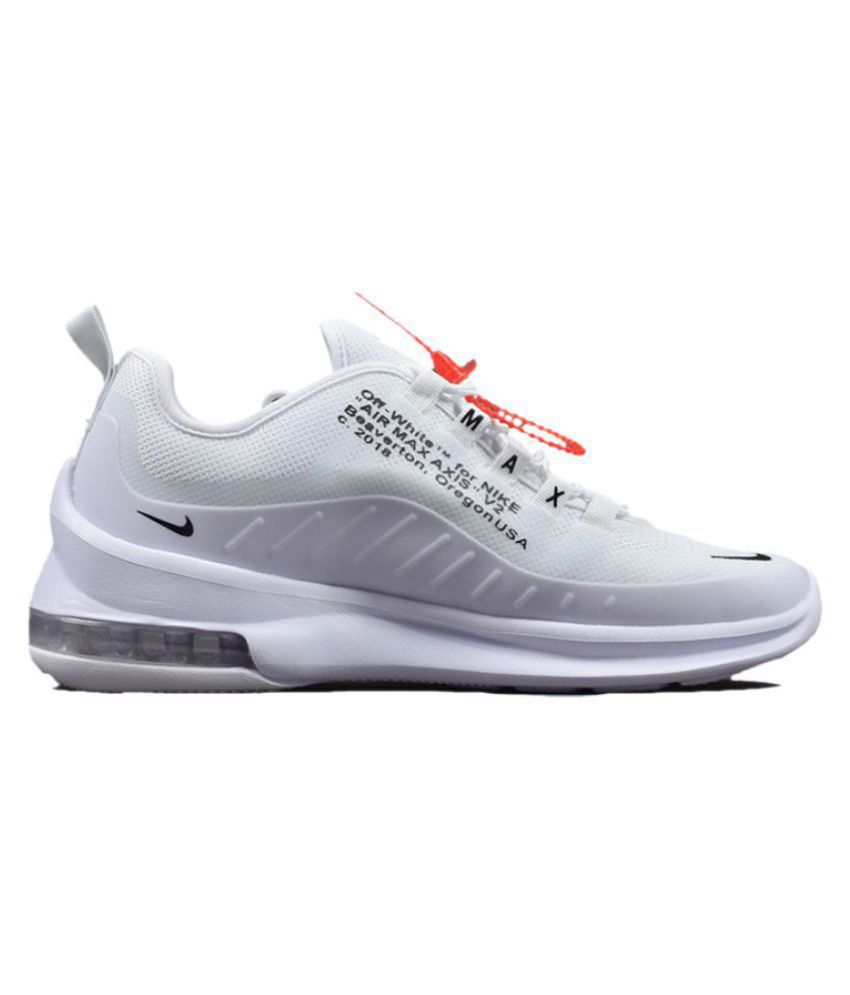91f577d2bcba Nike Air Max Axis 2018 OFF-WHITE White Running Shoes - Buy Nike Air ...