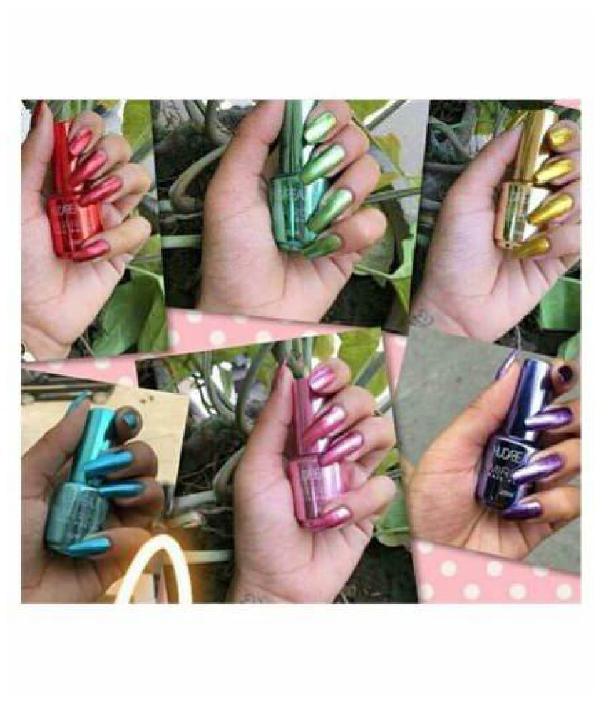 Huda Beauty Nail Polish Mirror Effect Random Color Mirror Crme 15 ml Pack of 4