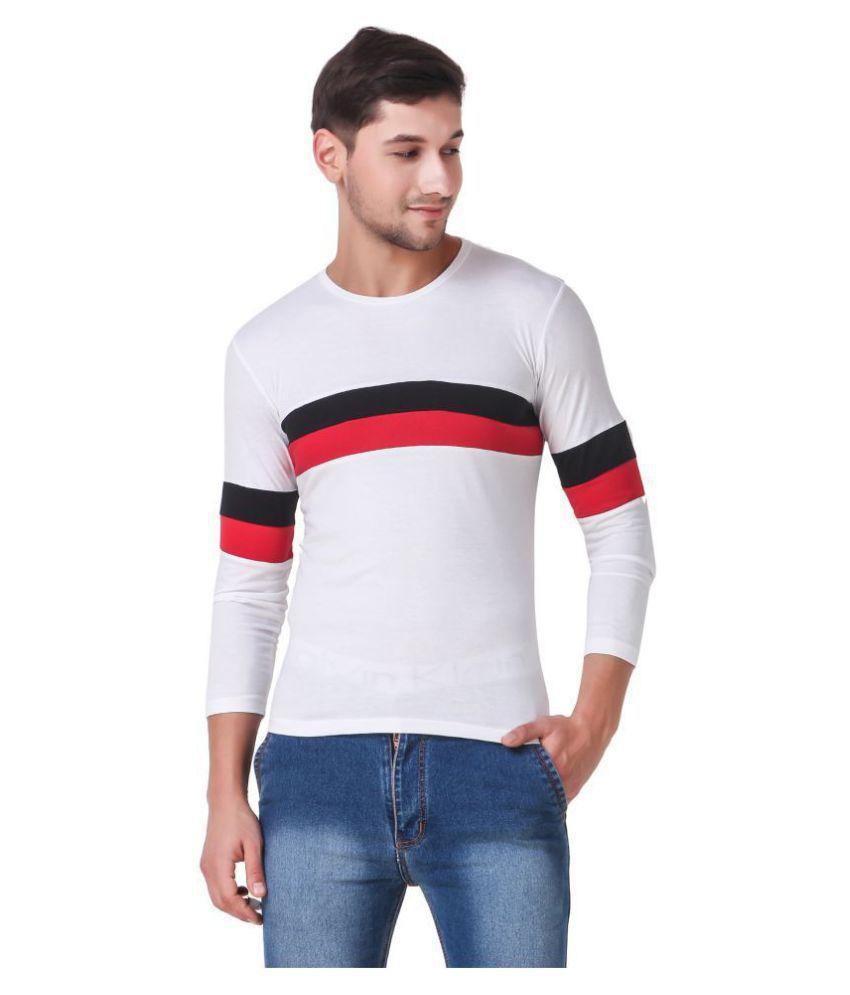Heart Rulers White Full Sleeve T-Shirt Pack of 1