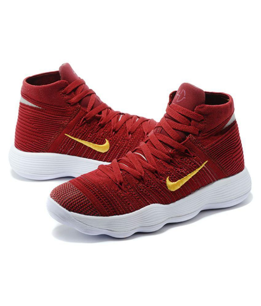 on sale ac7df 024d5 Nike HYPERDUNK 2018 FLYKNIT Red Basketball Shoes - Buy Nike HYPERDUNK 2018  FLYKNIT Red Basketball Shoes Online at Best Prices in India on Snapdeal