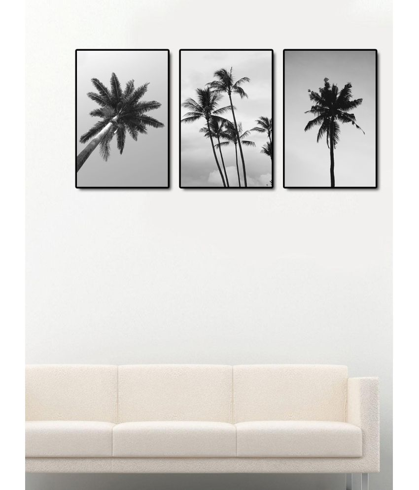 999Store    black and white tree  Acrylic Painting With Frame