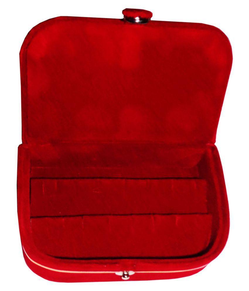 Shivansh Traders Set of 1 velvet Earring folder Ring box jewelery case ring storage ear ring travelling folder