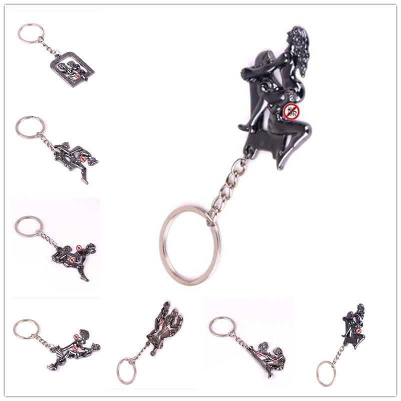 New Fashion Jewelry Alternative Sexy Lover Metal Keychain Keyring Key Ring Chain Funny Toy Keychain