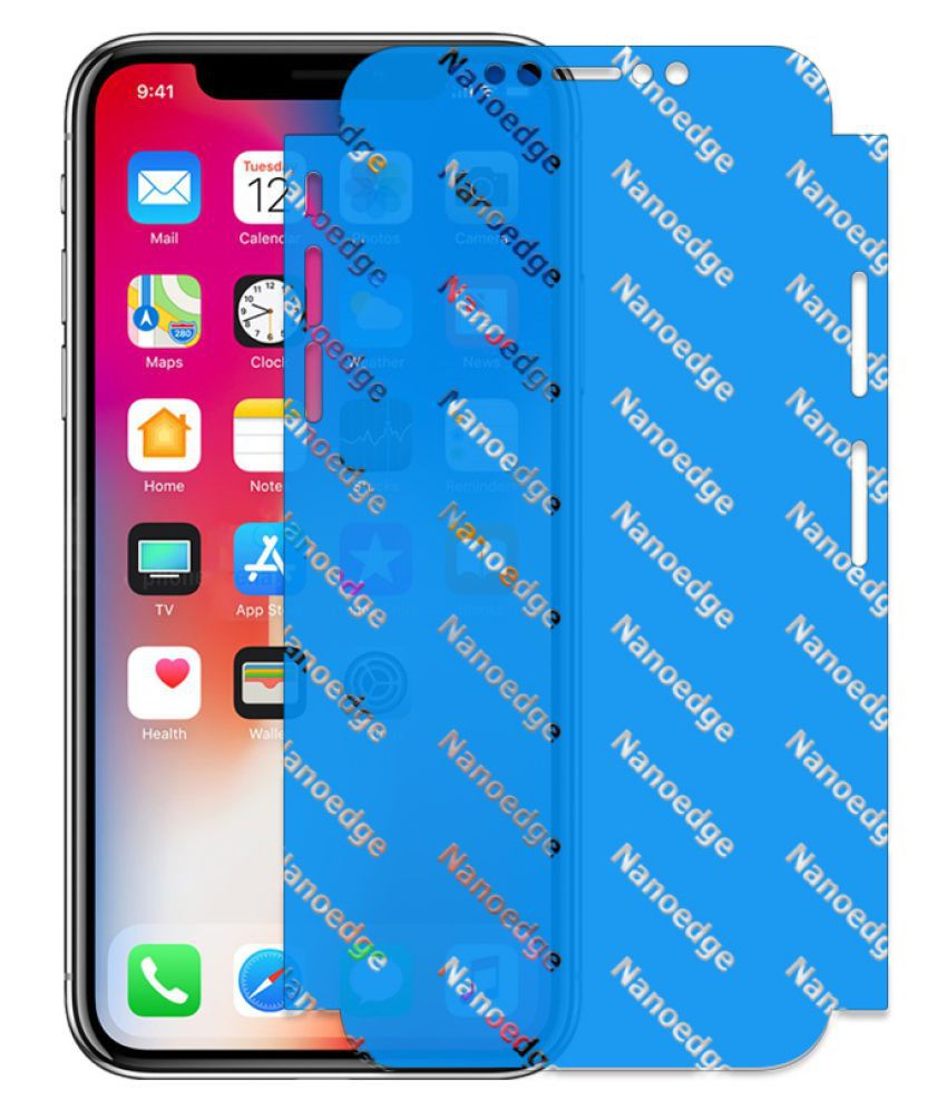 Apple iPhone X Clear Screen Guard By gadget style Maximum Protection,Particular Design,Bubble Free