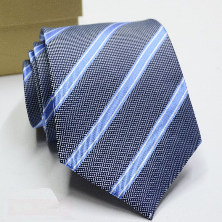 Levaso Gray Stripes Polyester Necktie