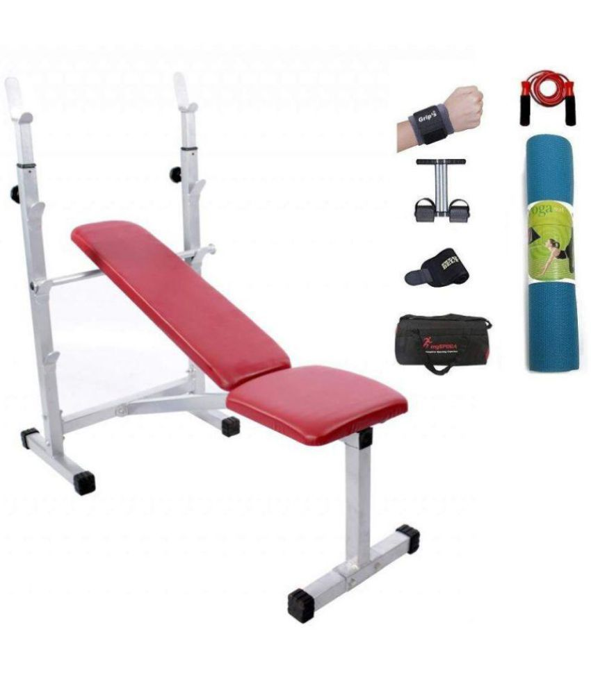Lifeline multipurpose bench for home gym bundles with tummy