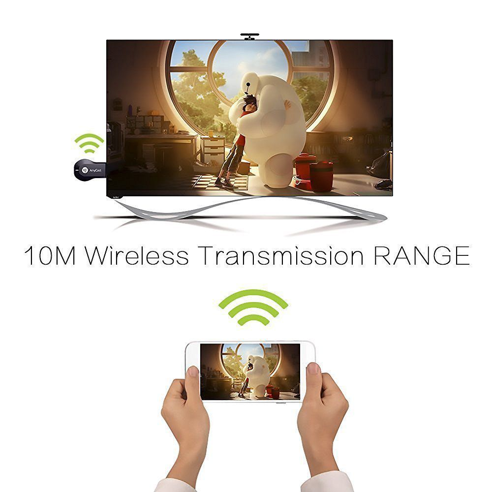 Terabyte Anycast 1080P Full HDMI Dongle Wireless Display For Android  Smartphones/Iphone/Ipad/Windows/Tablets to LED/Projector(Mirrors Your