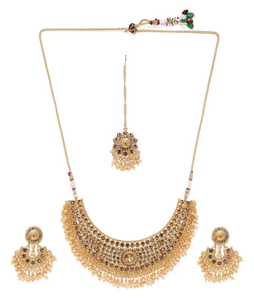Zaveri Pearls Necklaces Set