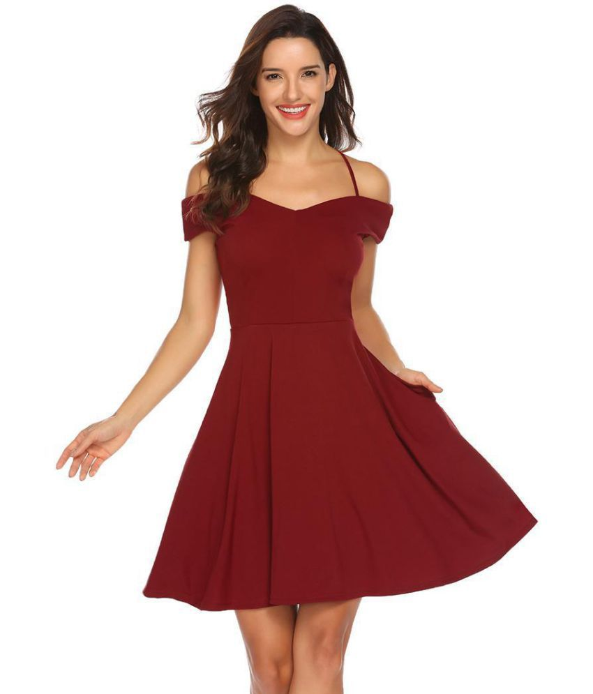 e4c5930a9e Generic Polyester Red Off Shoulder - Buy Generic Polyester Red Off Shoulder  Online at Best Prices in India on Snapdeal