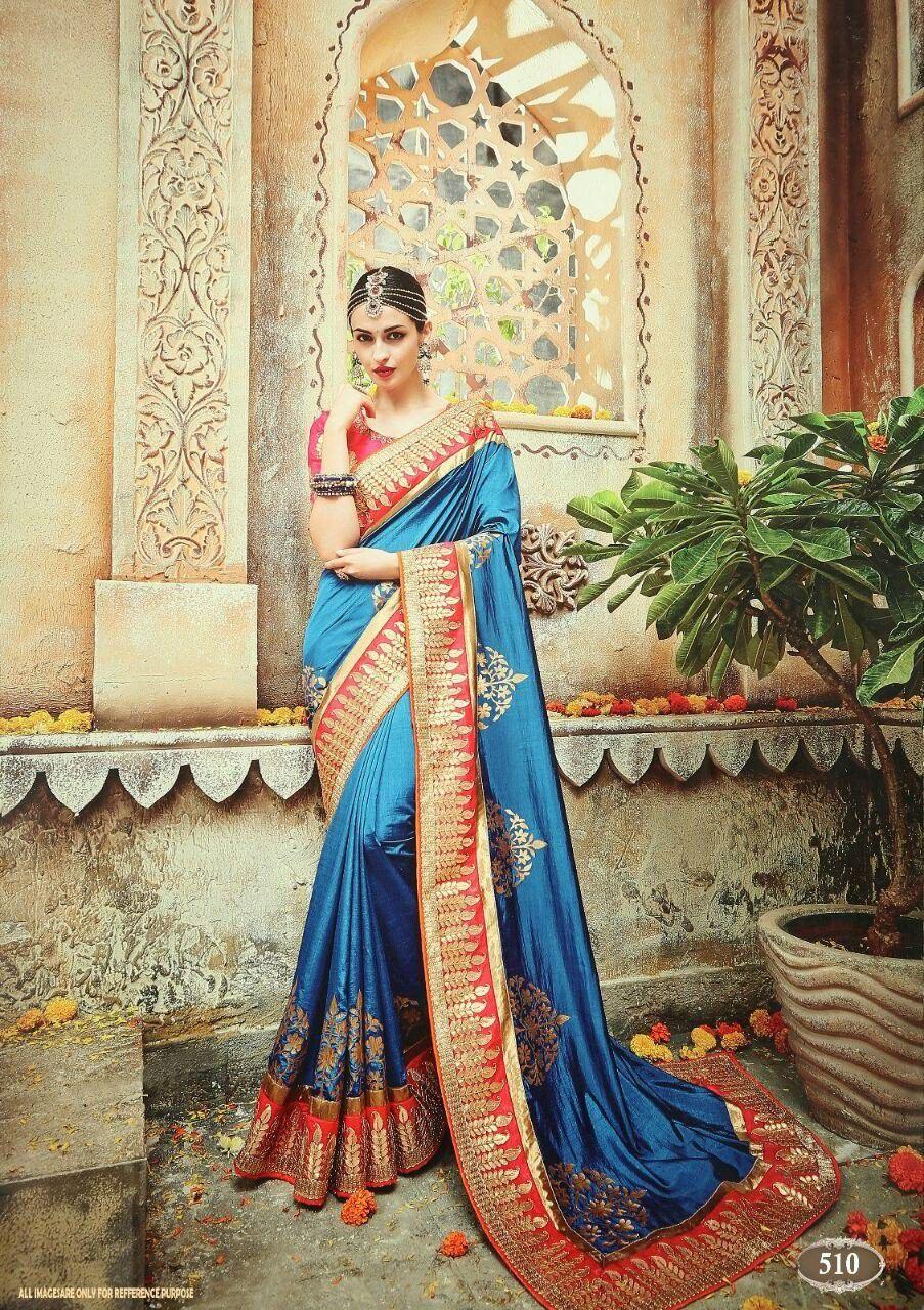 LAXMIPATI FASHION BLUE Silk Saree