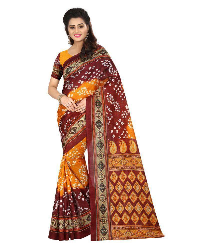 URBAN shopper Multicoloured Khadi Saree