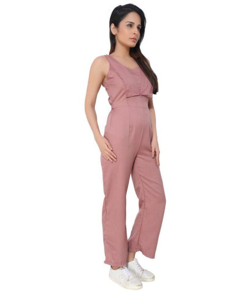 d9ee52c9e8c KLOTHESROOF Pink Polyester Jumpsuit KLOTHESROOF Pink Polyester Jumpsuit  KLOTHESROOF Pink Polyester Jumpsuit ...