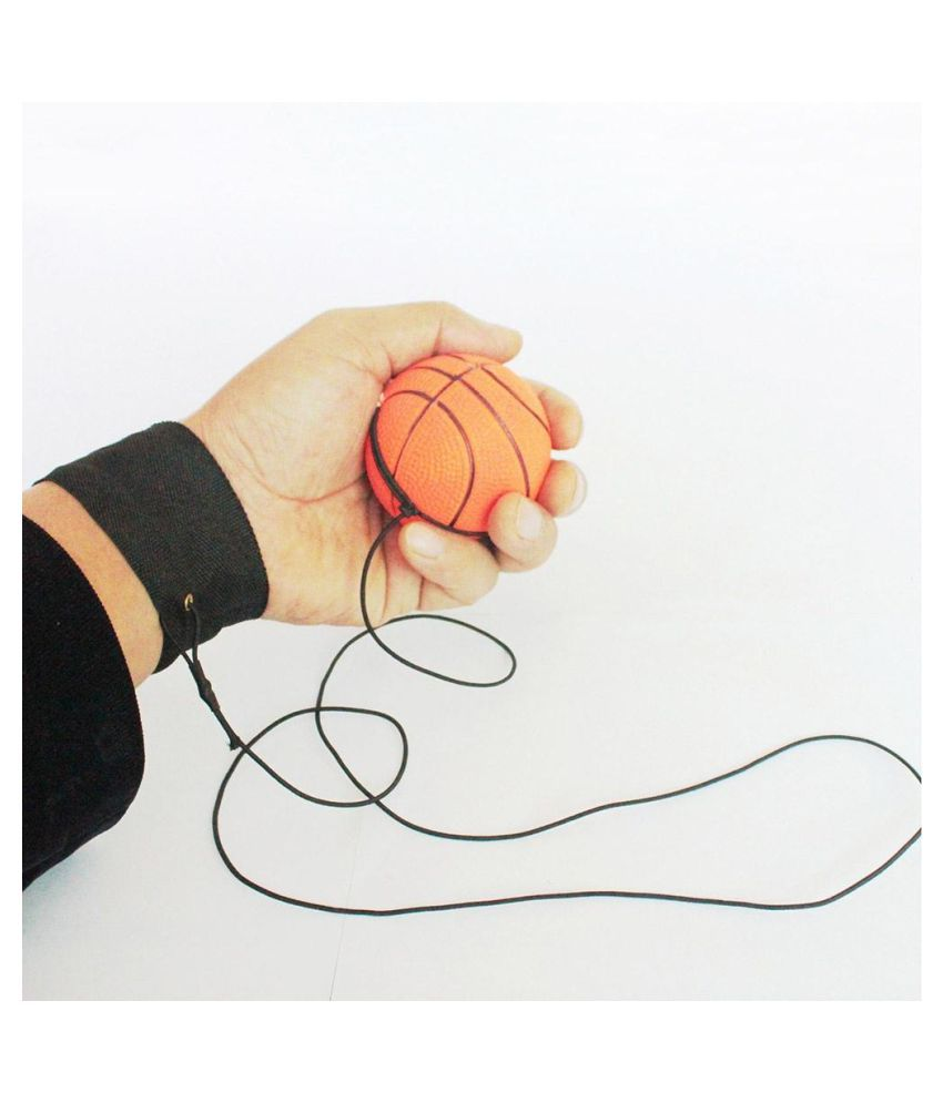 Bouncy Wrist Band Rubber Ball Elastic String Rebound Finger Exercise Sport Toy