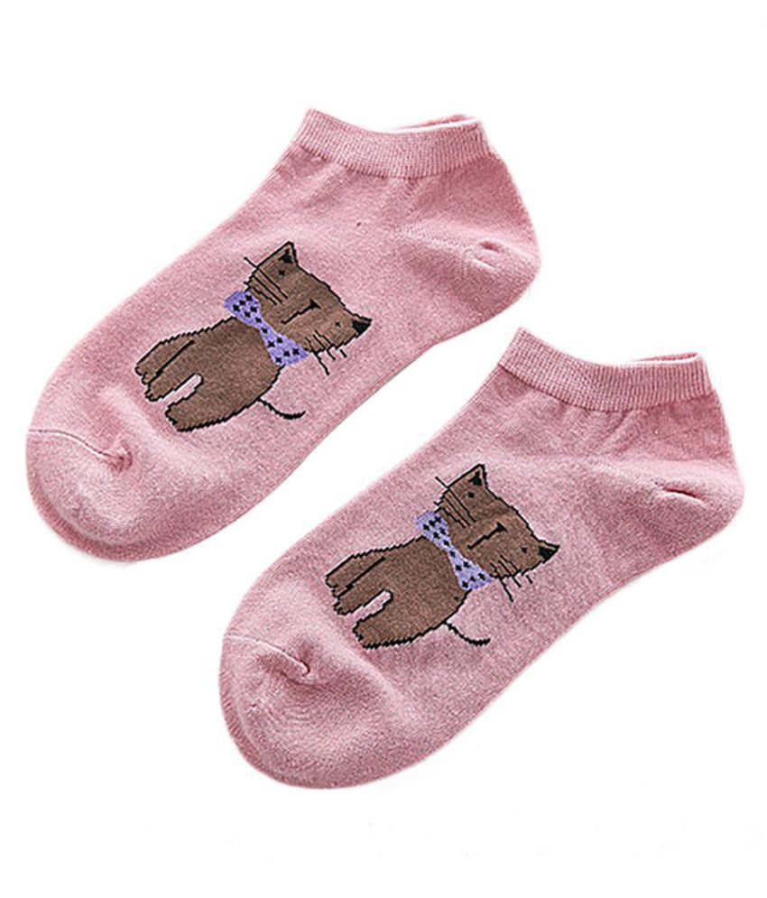 Generic pink Casual Ankle Length Socks