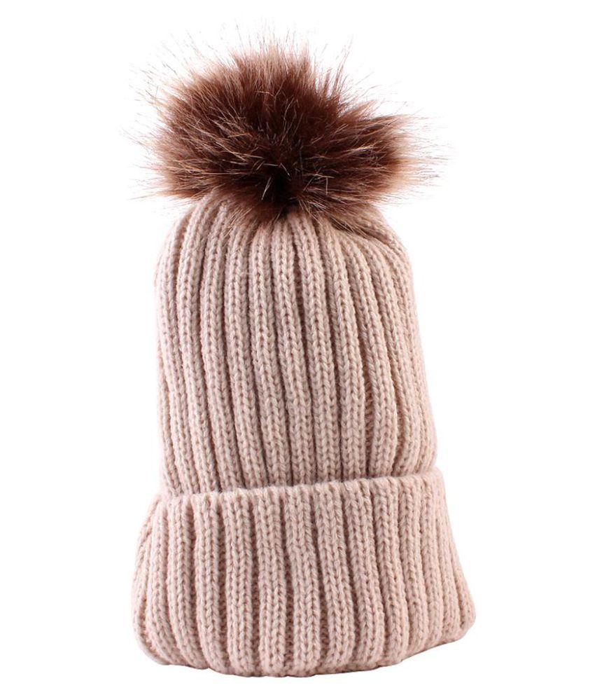 Generic beige Knitted Wool Hats