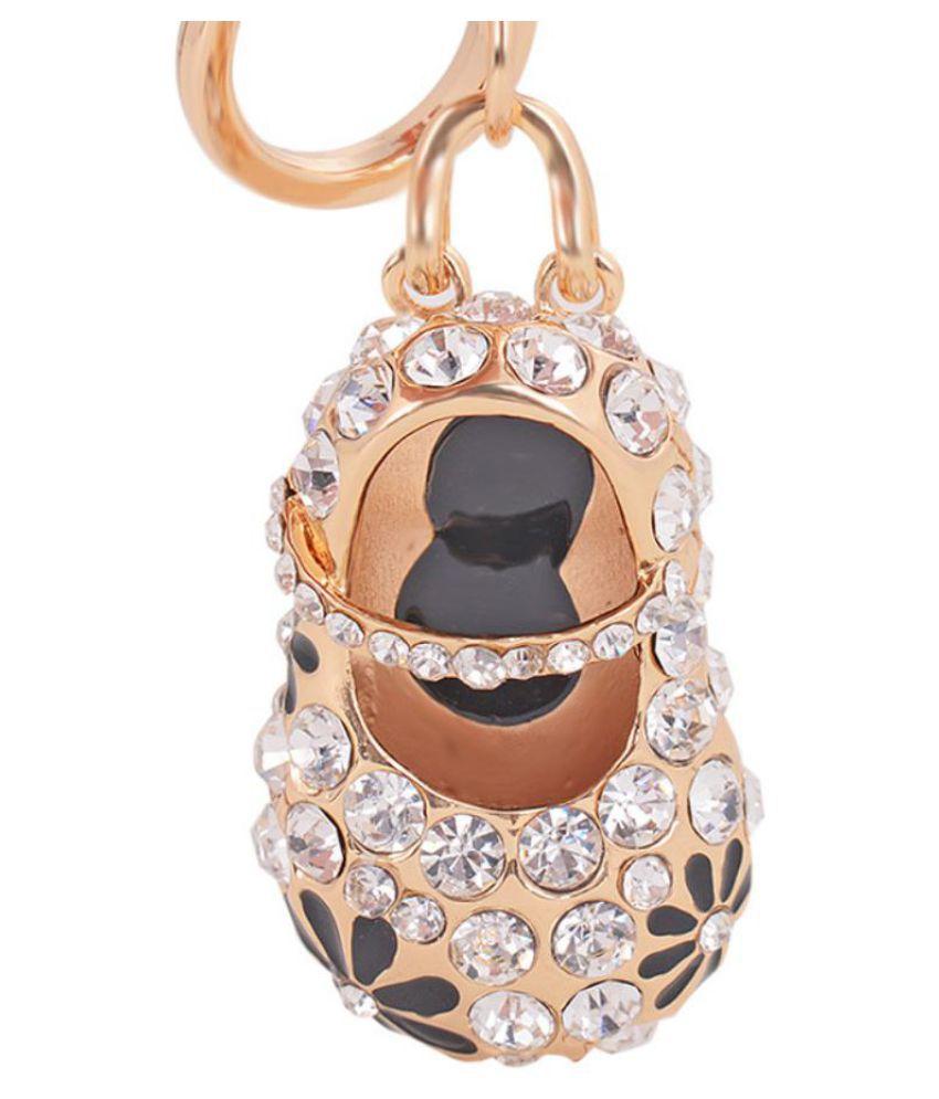 Cute Shoes Rhinestone Pendant Keychain Key Ring Bag Purse Hanging Ornament Gift