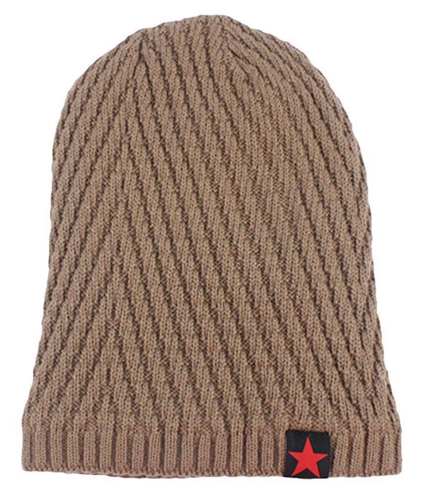 Generic brown Knitted Wool Hats