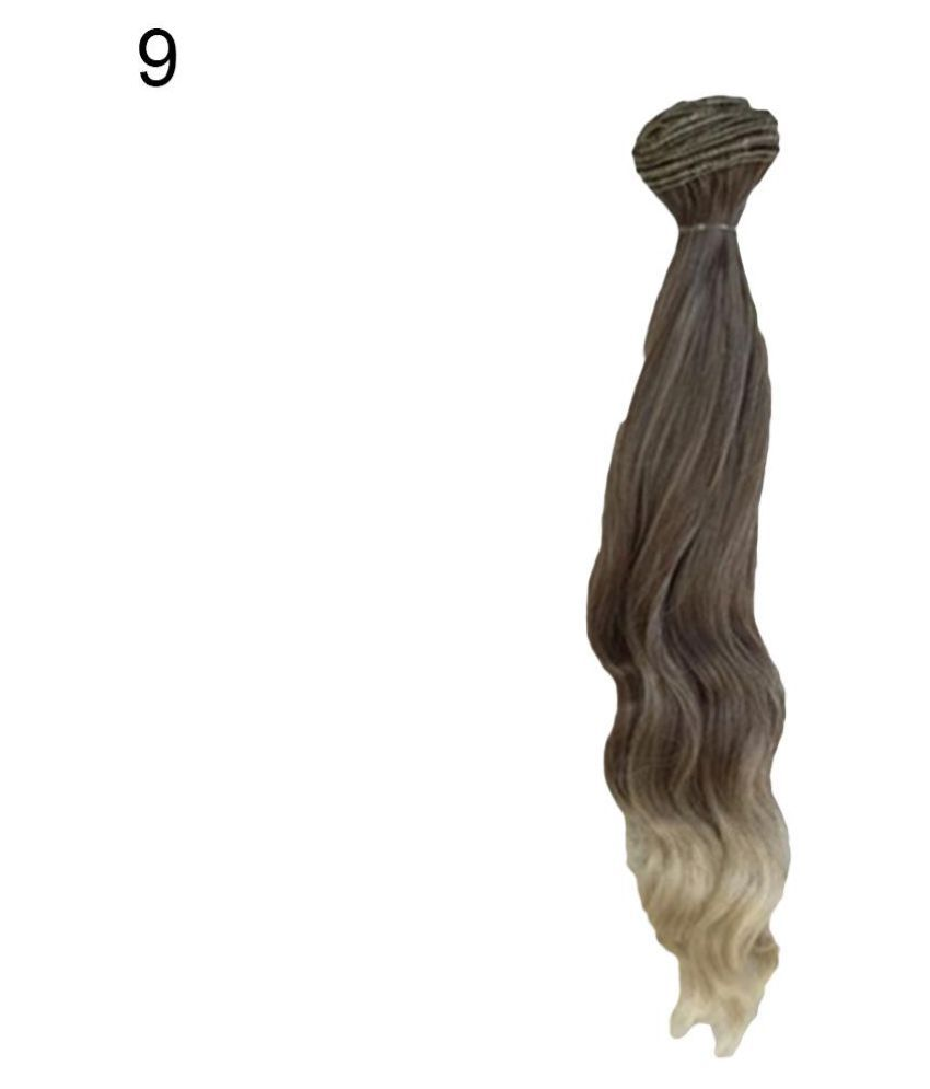 Smooth Natural Color Extension Long Curly Hair BJD SD Wigs Doll Accessories