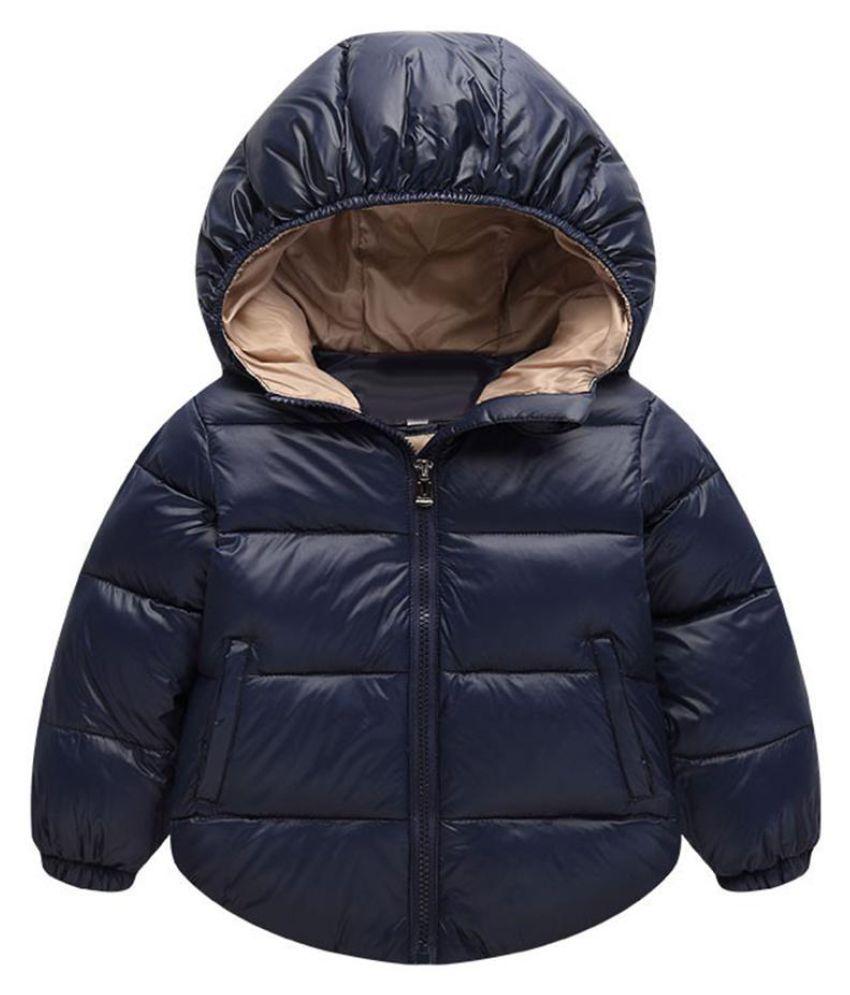 Child Winter Kids Fashion Hooded Wadded Jacket Snowsuit Warm Padded Coat Outwear