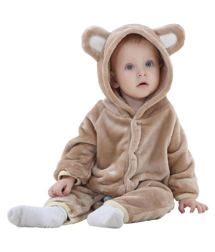 Cute Winter Cartoon Animal Bear Ear Hoodie Baby Infant Romper Climbing Clothes