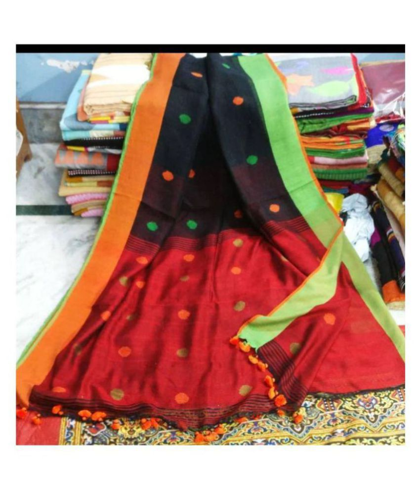 Samriddhi Multicoloured Jamdani Saree