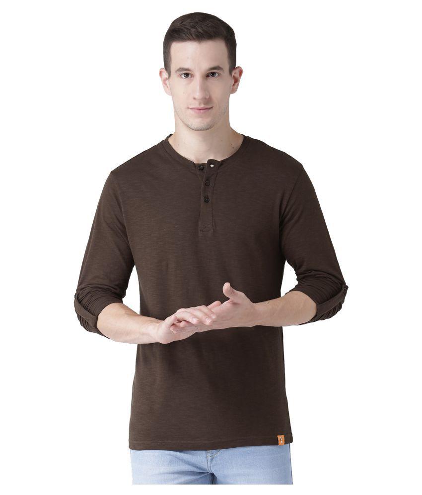 Club York Brown Full Sleeve T-Shirt