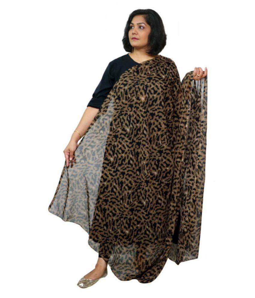5015e788b4 GraceDiva Brown Georgette Animal Print Dupatta Price in India - Buy  GraceDiva Brown Georgette Animal Print Dupatta Online at Snapdeal