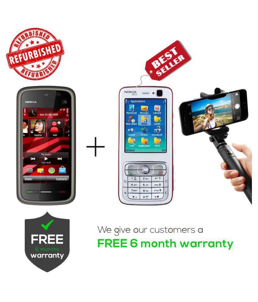 Refurbished Nokia 5233 & N73 Get Selfie Stick Black