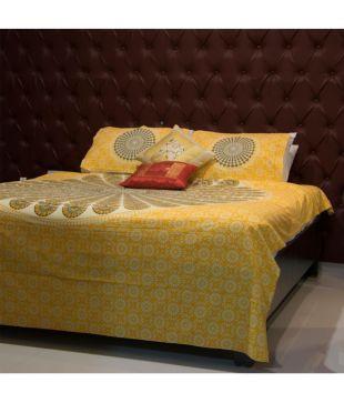Enn Ell Enterprises Cotton Double Bedsheet With 2 Pillow Covers
