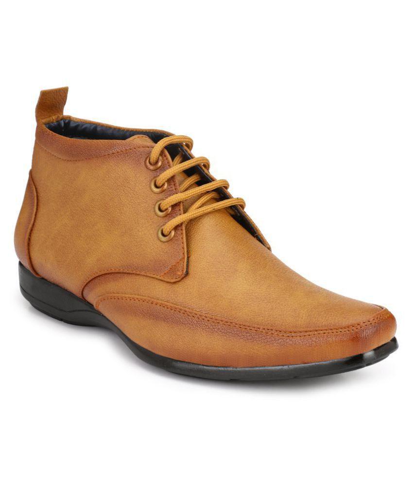 DE ROCK Tan Casual Boot
