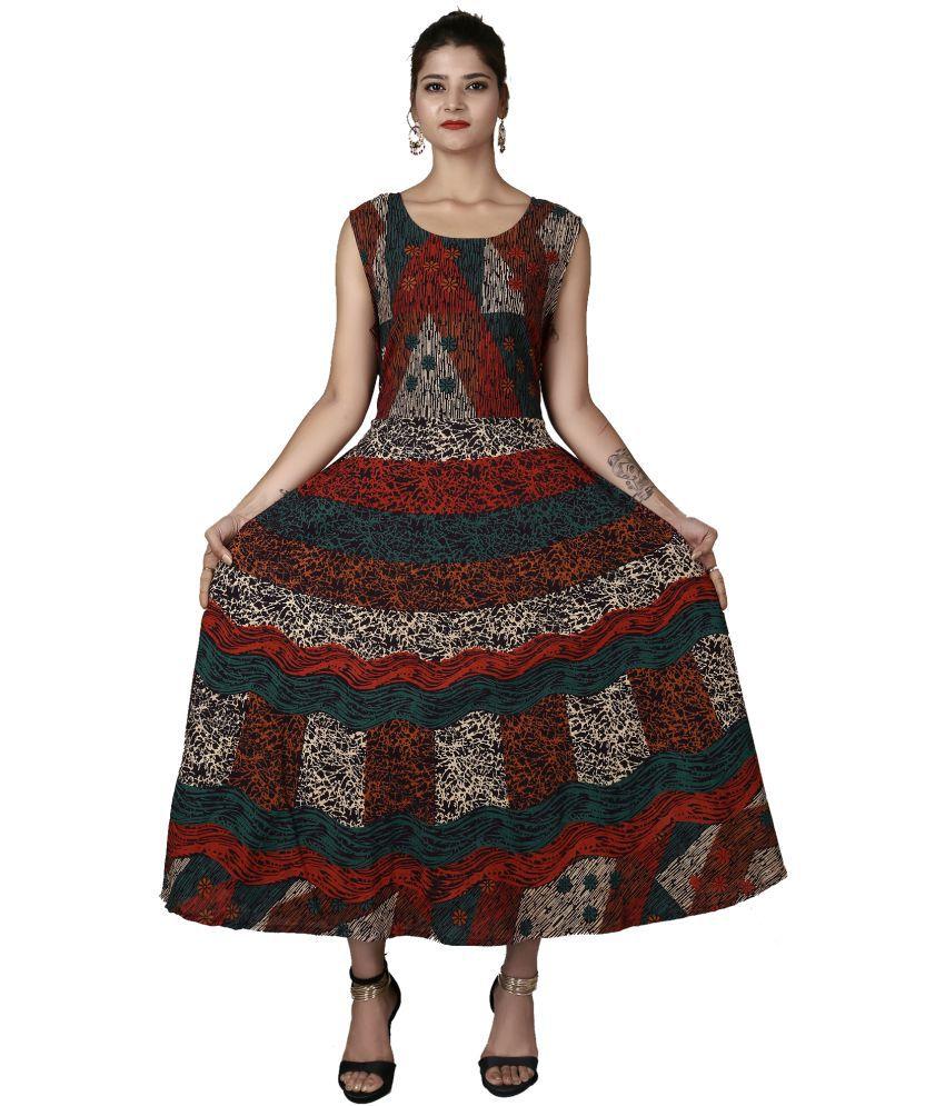 Magnus Cotton Multi Color Regular Dress