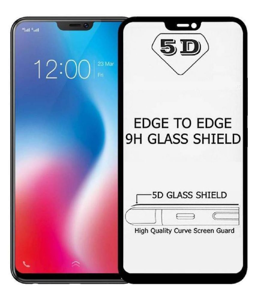 Vivo Y71 Full Glue Tempered Glass Screen Guard By Kik Beazt Edge To Edge Full Screen Cover 5D Tempered Glass