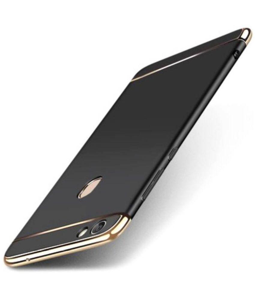 Oppo A83 Plain Cases Doyen Creations - Black 3 In 1 Back Cover
