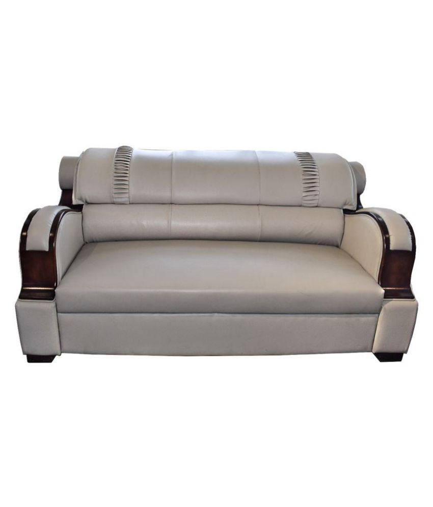 ADHUNIKA WHITE SOFA SET IN LEATHERETTE 3+2+2 - Buy ADHUNIKA WHITE SOFA SET IN LEATHERETTE 3+2+2 Online At Best Prices In India On Snapdeal