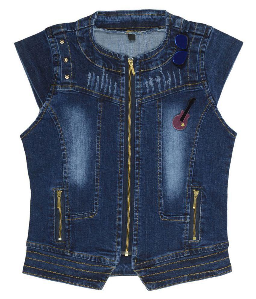 Carrel Girls Darkblue Denim Jacket