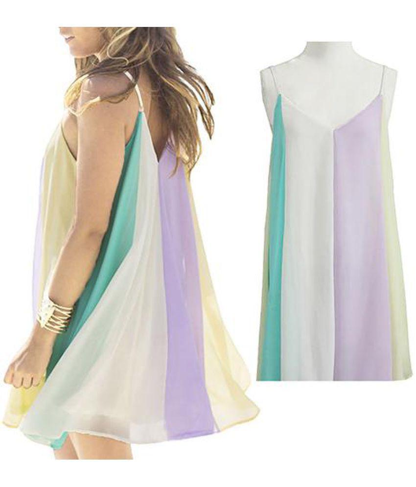 Generic Chiffon Multi Color Asymmetric dress