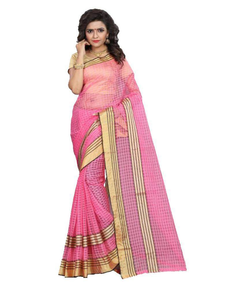 Tithi Kumari Pink Georgette Saree