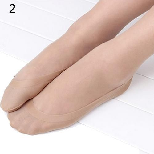 Women Fashion Inviside Light Boat Socks Silicone Anti-Slip Short Ankle Stockings
